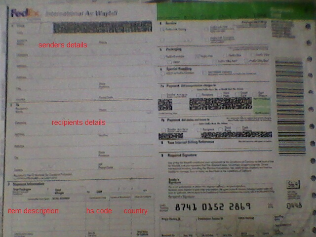 airway bill format