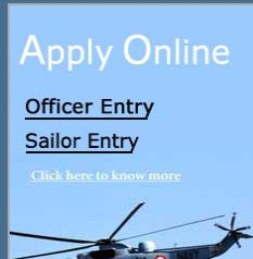 Artificer apprentice 2012 AA application indian navy recruitment