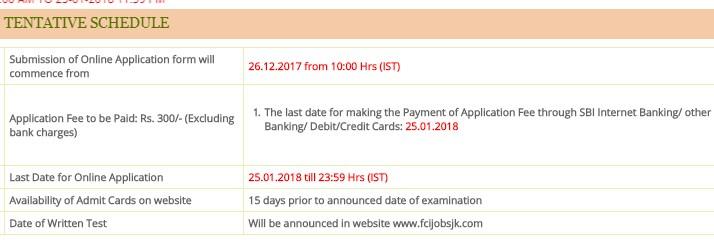 FCI Recruitment 2018