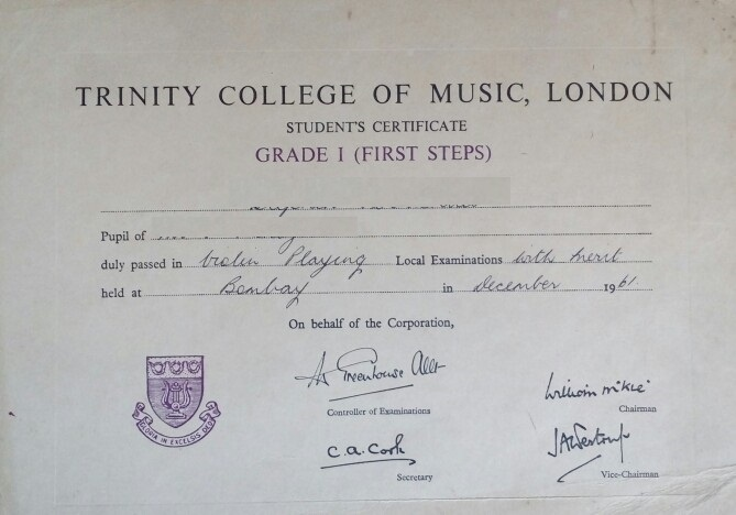 Trinity college london music exams in india