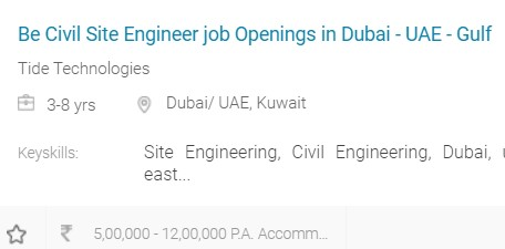 Engineering jobs In Gulf Countries for Indians