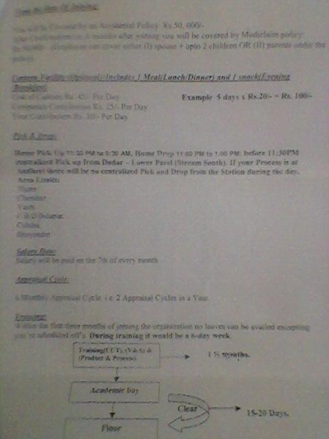 offer letter format for bpo