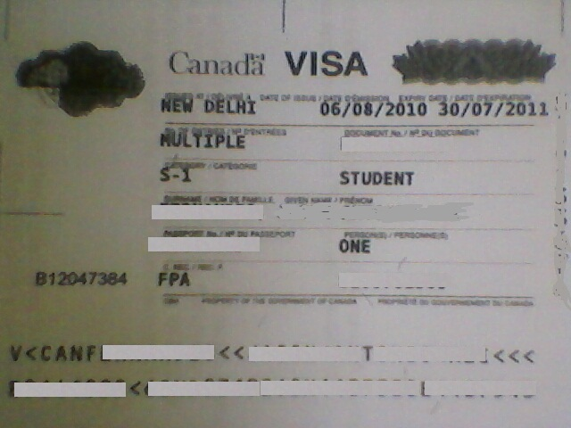 Student visa for Canada from India requirements