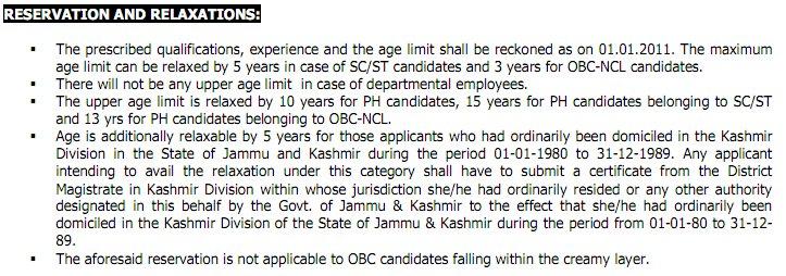 fci recruitment 2012 reservations