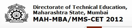 Maharashtra mba cet 2012 dates notification