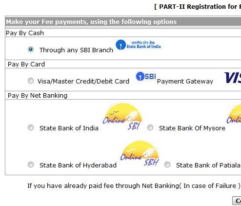 NDA 2012 online application form