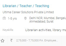 Librarian Courses in India